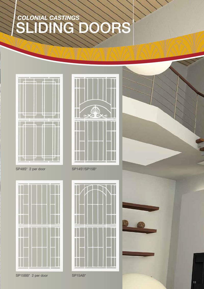 Product Brochure For Colonial Casting Sliding Doors Design