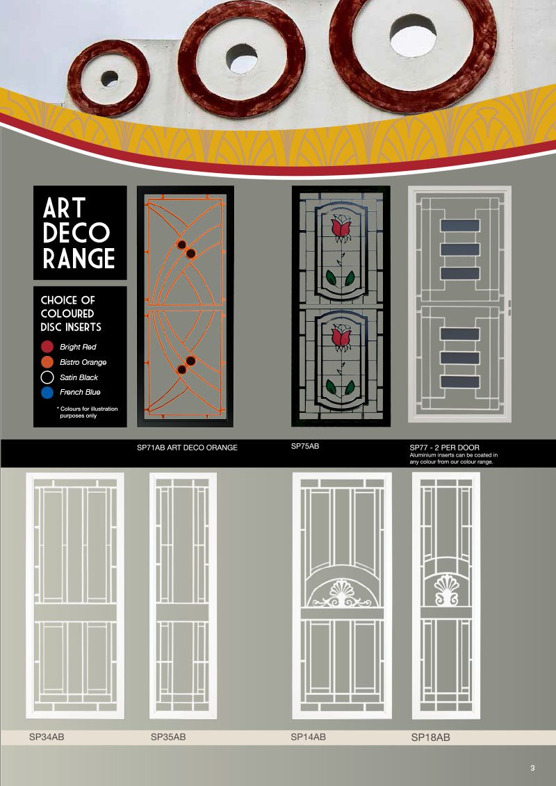 Product Brochure For Door Designs With Colored Glass Inserts