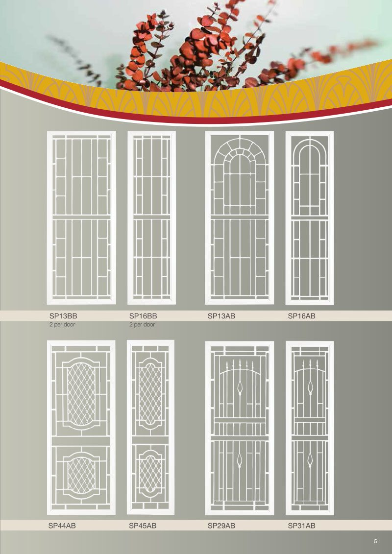 Product Brochure For Vintage Security Doors Designs