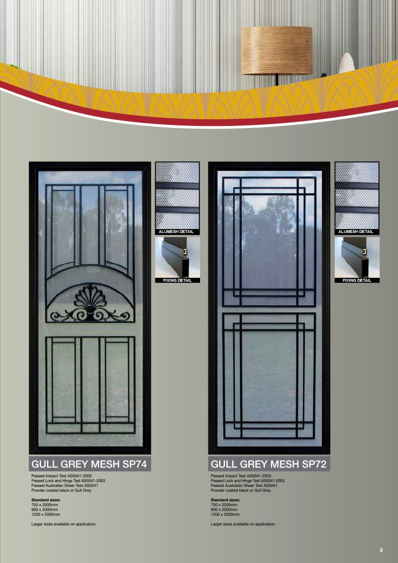 Product Brochure For Gull Grey Mesh For Security Doors