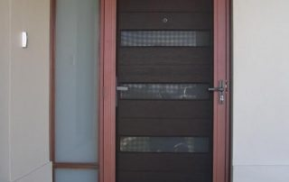 Brown Color Aluminum Security Door With Secura Screen