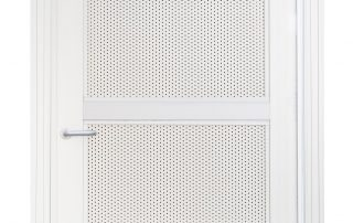 White security screen door with white steel mesh