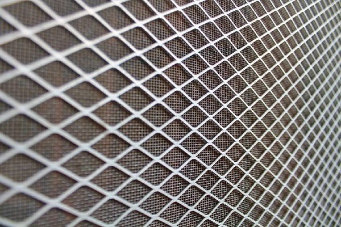 Metal screen on a security door