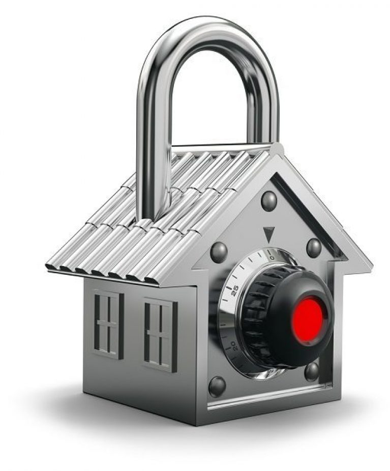 Secure home in the shape of lock